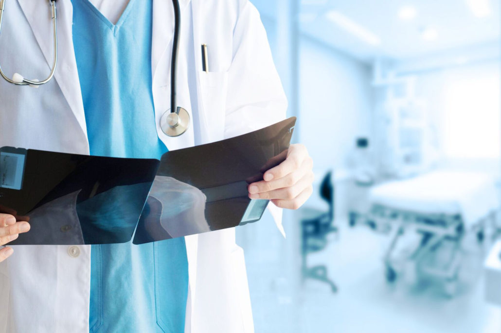 doctor holding a file