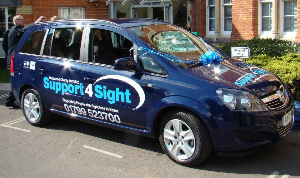 The support for sight car used for home visits